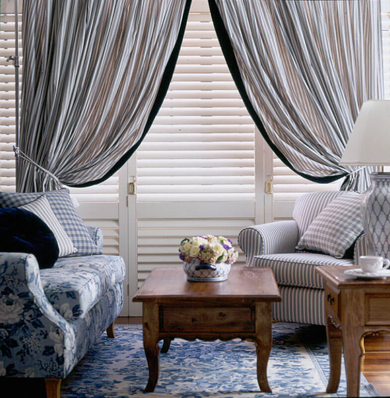 Curtains over Shutters